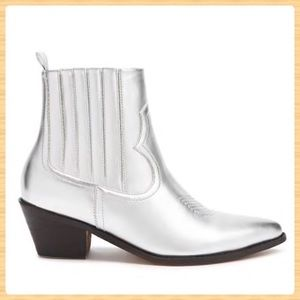 New Forever21 Metallic Western Boots
